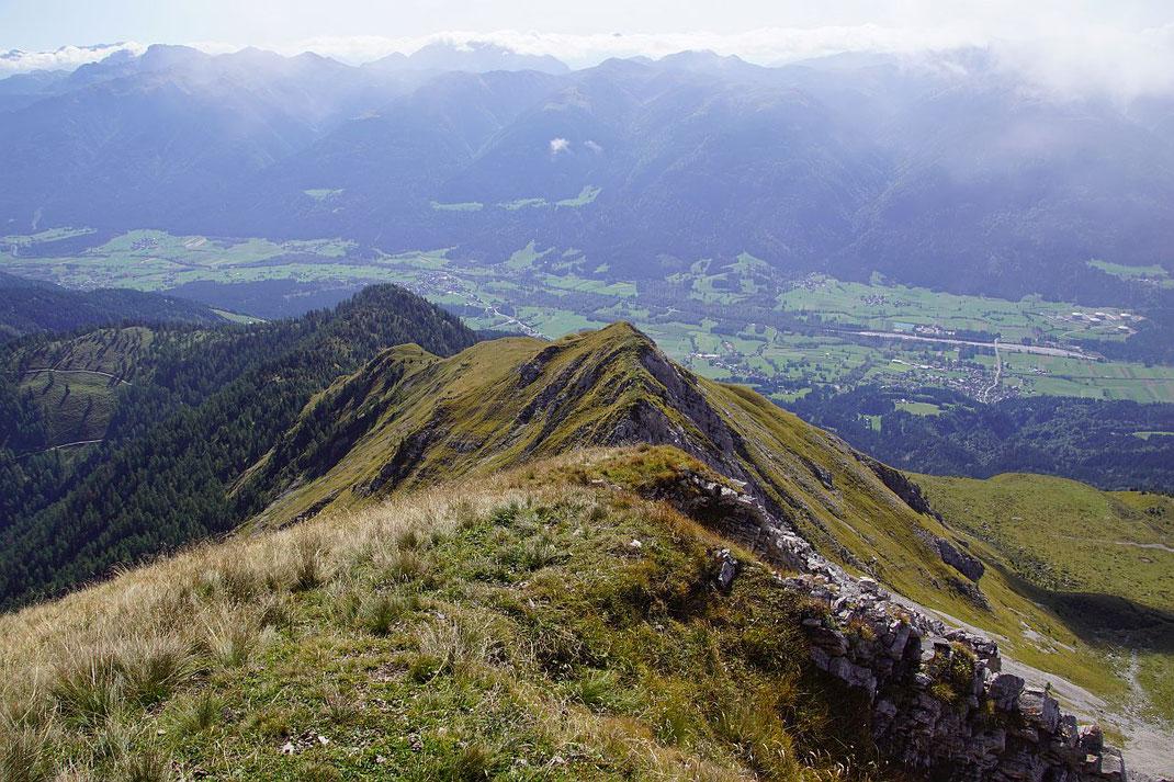 Abstieg im Bereich des steilen Südgrates