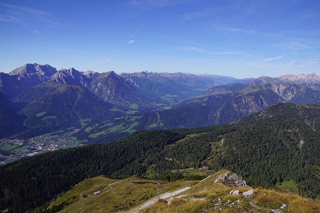 Das fantastische Panorama nach Südwesten