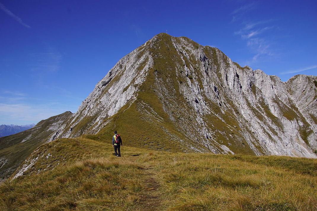 Der Ostgrat hinauf zum Gipfel