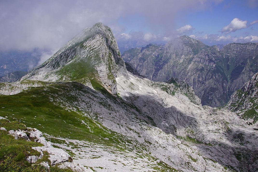 Blick vom Picco di Grubia zum Monte Sart