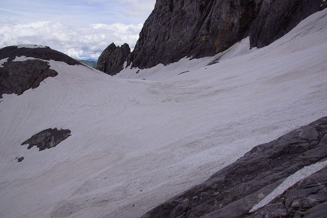 Blick von Westen über den Eisscheitel