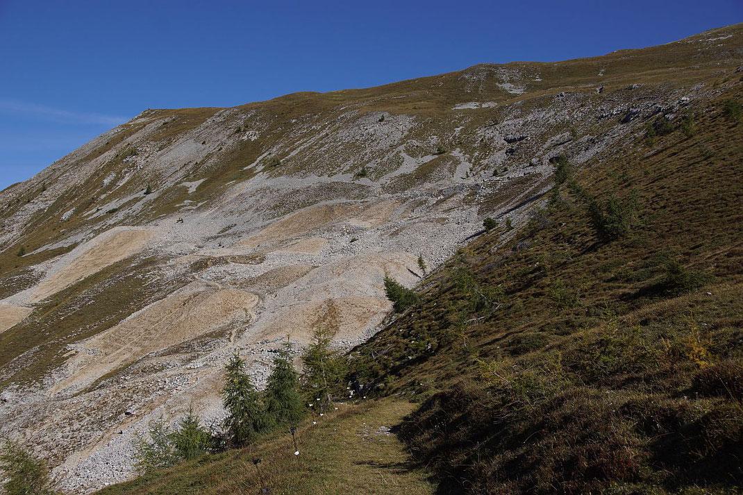 Die Spuren des Bergbaus, der Höhepunkt lag vom 16. bis ins 18. Jahrhundert