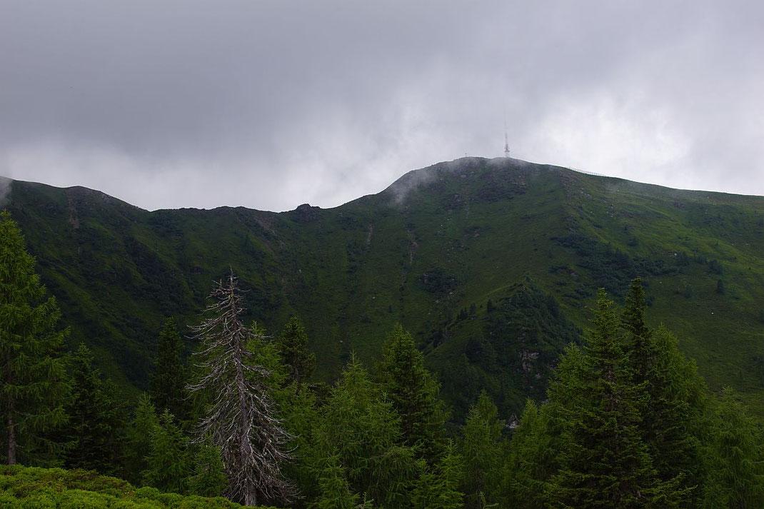Goldeck Gipfel, aufgenommen knapp vor der Goldeckhütte