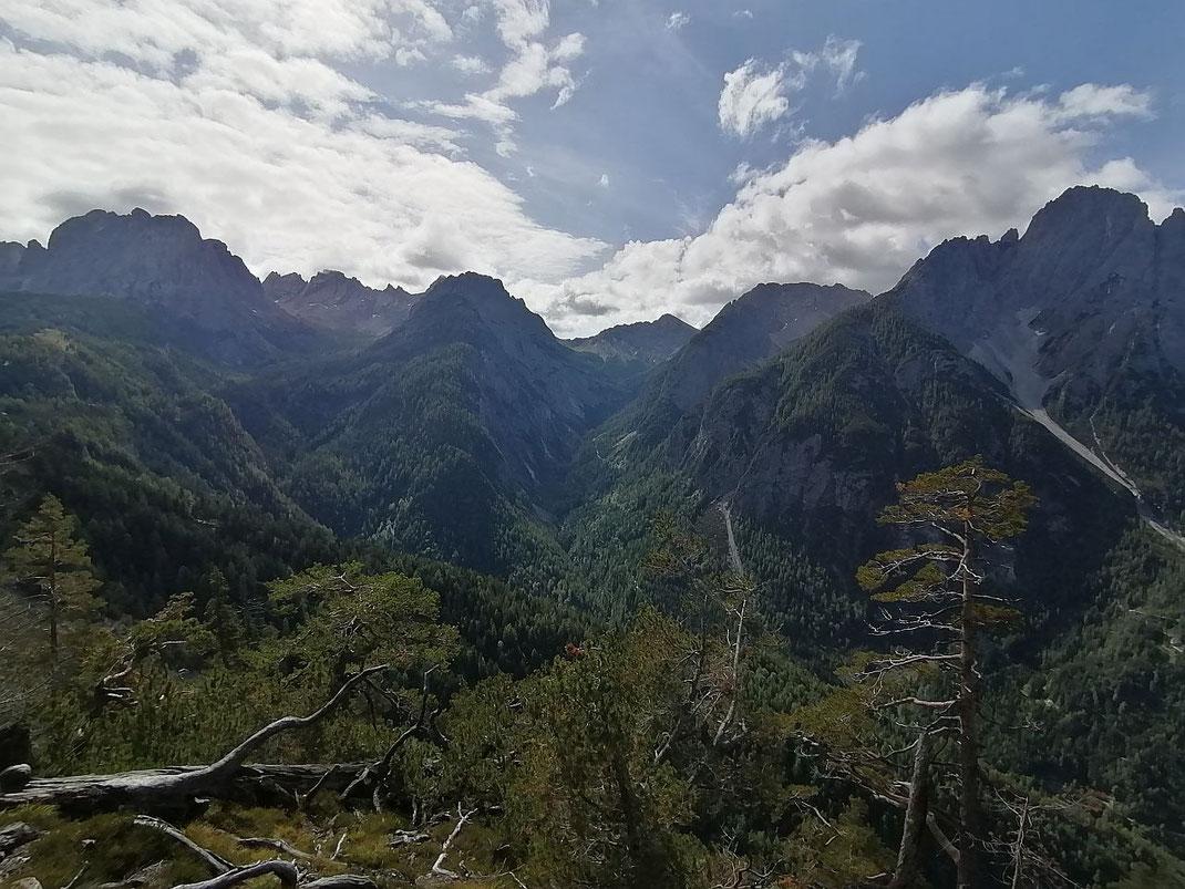 Blick vom Rauchkofel nach Süden in die Lienzer Dolomiten