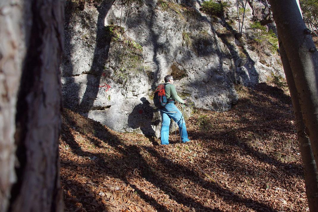 Am Übergang ins steile Gelände
