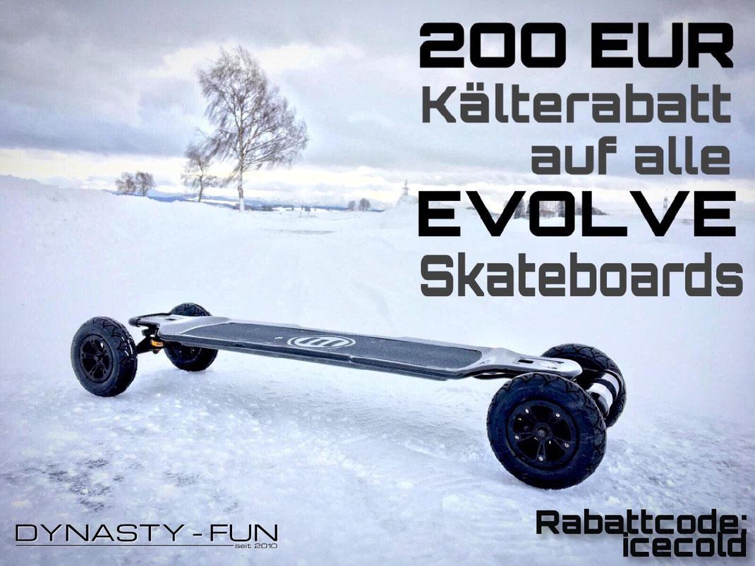 Evolve Skateboard Rabattcode