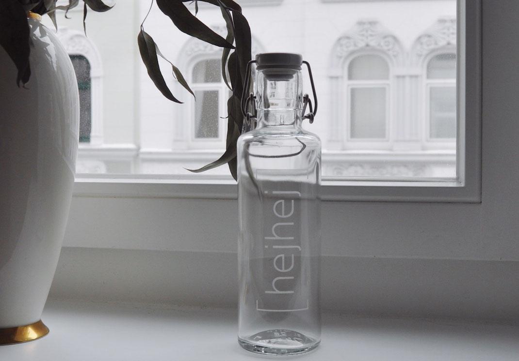 hejhej-mats glass bottle