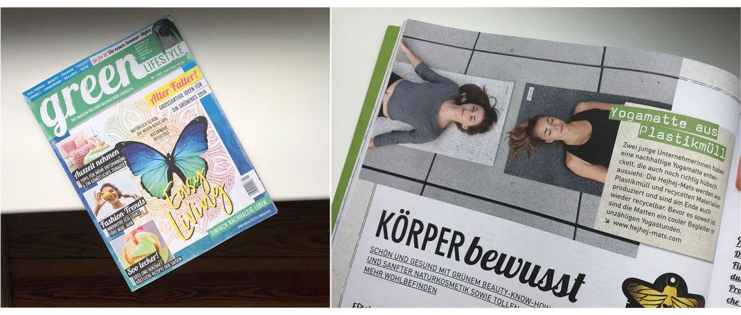 hejhej-mats in der Printausgabe des Green Lifestyle Magazins.