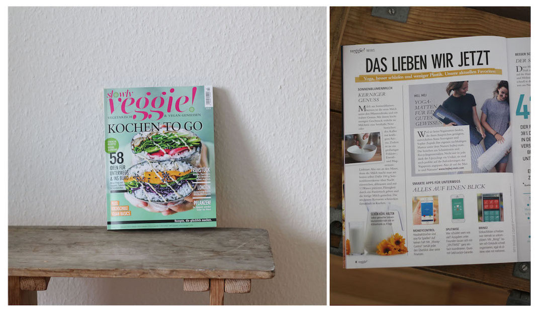 hejhej-mats article in the german slowly veggie magazine