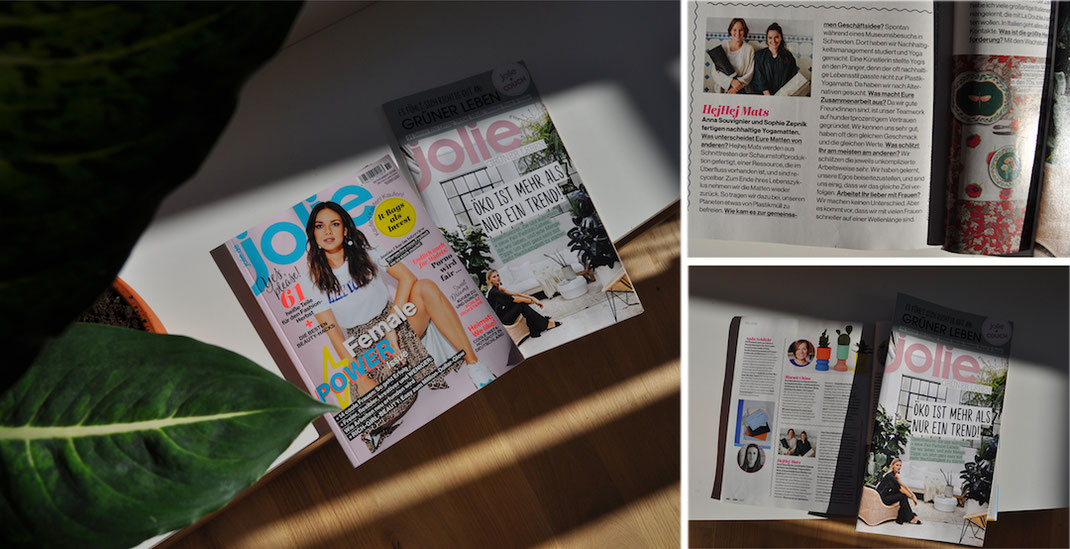 hejhej-mats got featured in the german jolie magazine with a small interview about women in entrepreneurship