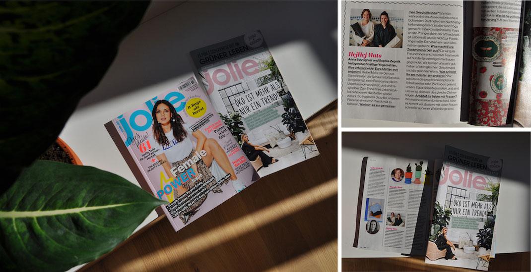 Kurzinterview mit hejhej-mats über Frauen in der Gründerszene. Gedruckt im Jolie Magazine.