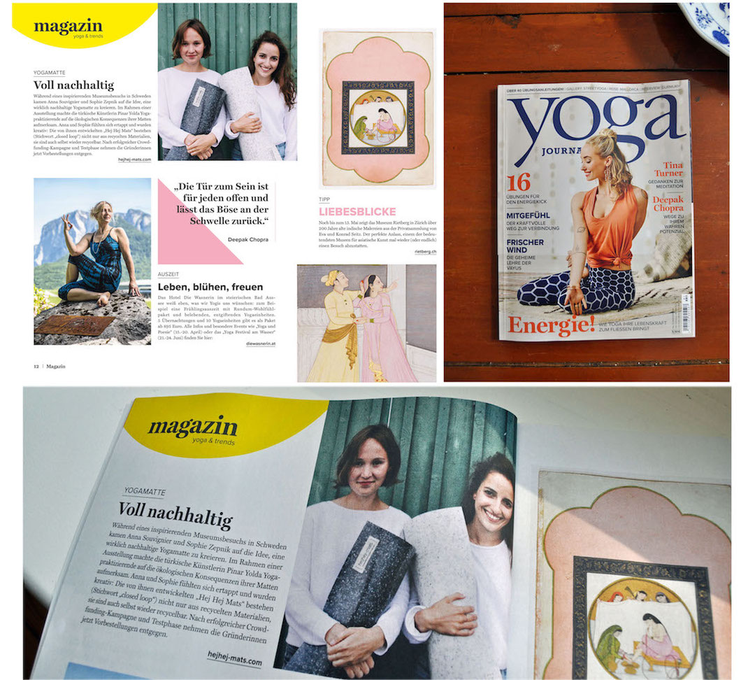 hejhej-mats in the german yoga journal issue 52 2018.
