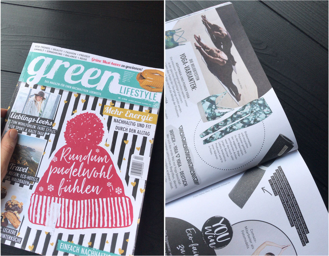 Our recycled mats got featured for the second time in the green lifestyle magazine.