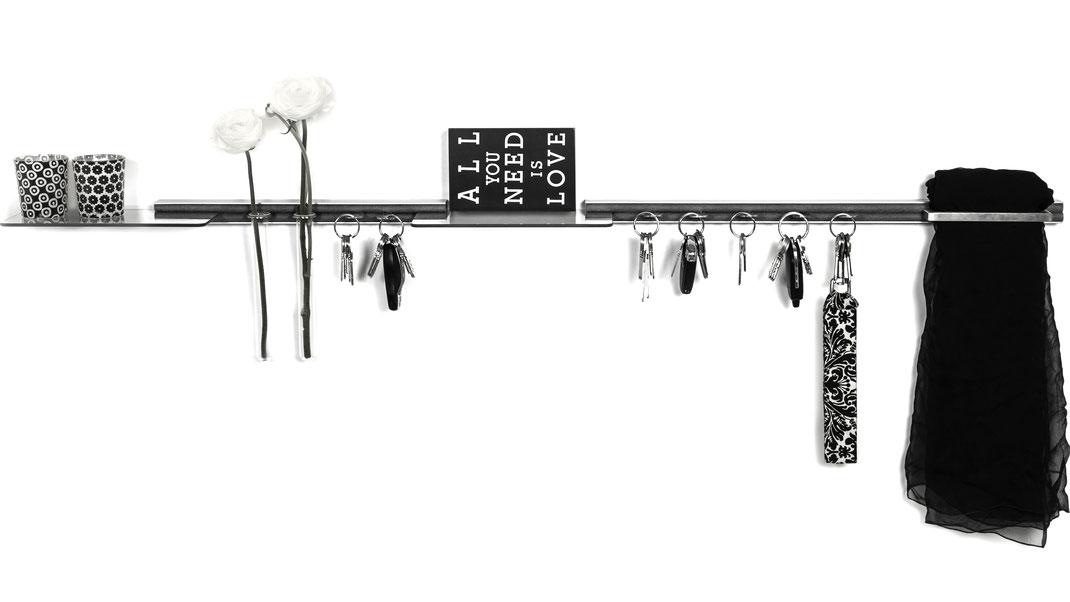schluesselbrett aufbewahrung geordnet eingangschaos multifunktionale garderobe blumen sonnenbrille schlüsselanhänger deko eingang flur ablage system swissmade design filz geschenk
