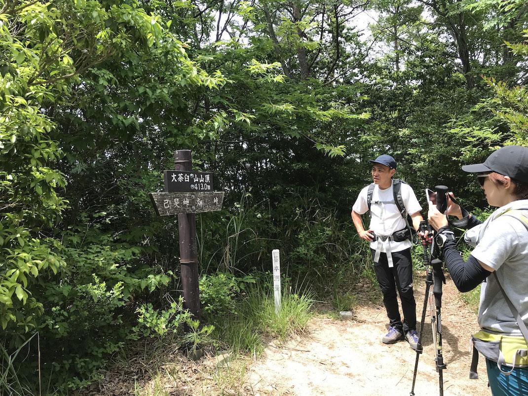 大茶臼山山頂(413m)