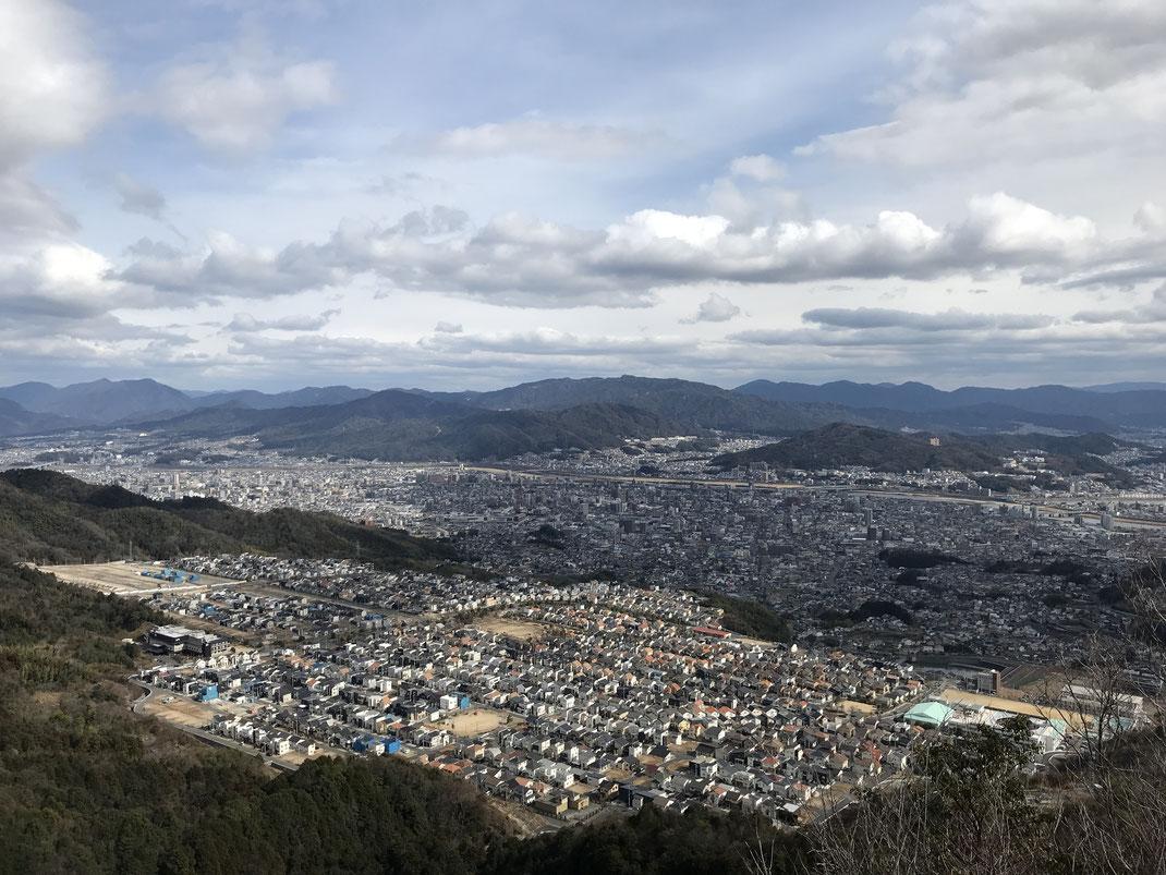 石山山頂景色春日野戸坂方面