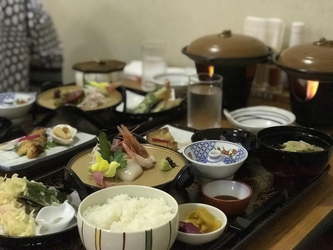 天塩川温泉の夕食