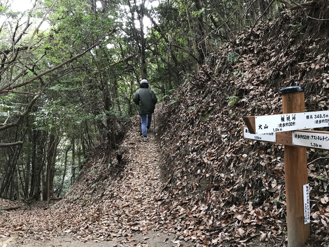 石山へ進む