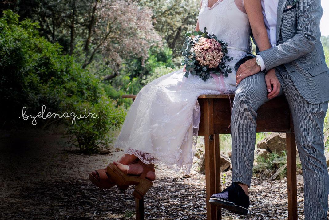 Vestit de núvia: l'Armari d'Eco/ Model: Gemma. Fotografia: Elena Guix