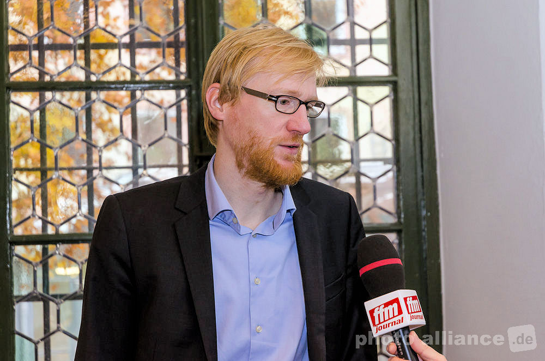 Zeithistoriker Dr. Henrik Bispinck im Interview in Mainz © FFM PHOTO / Friedhelm Herr
