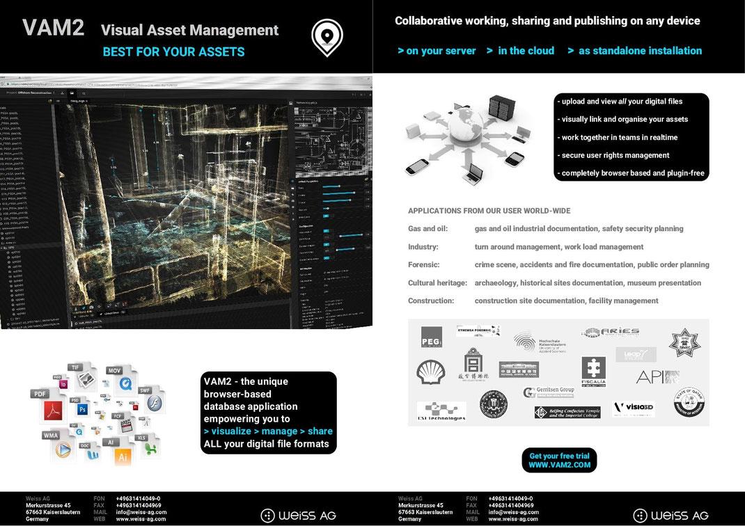 Download for free VAM2 brochure, visual asset management