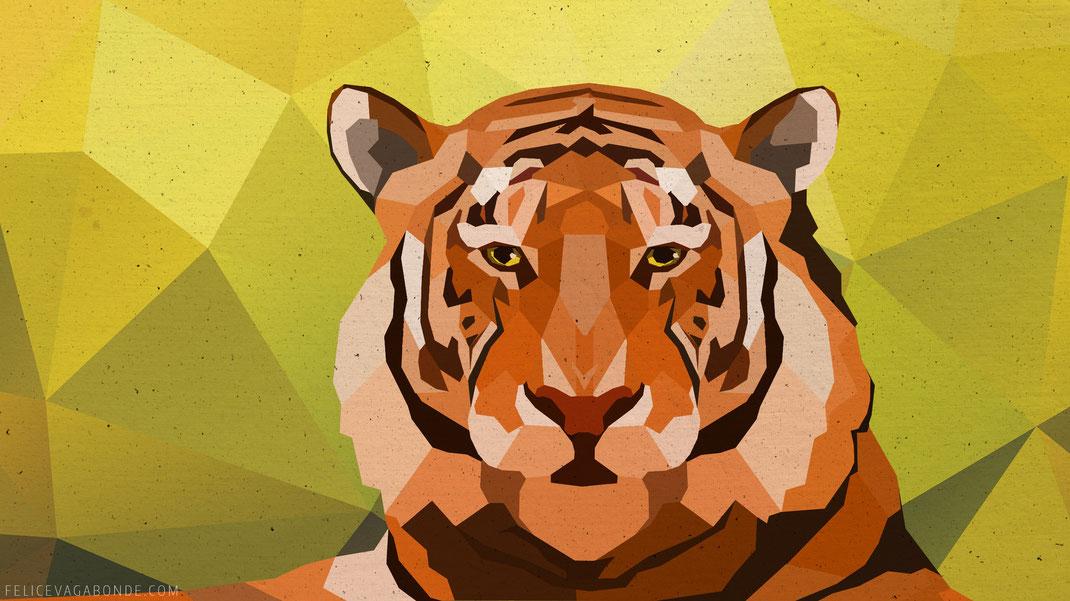 illustration eines sibirischen tigers