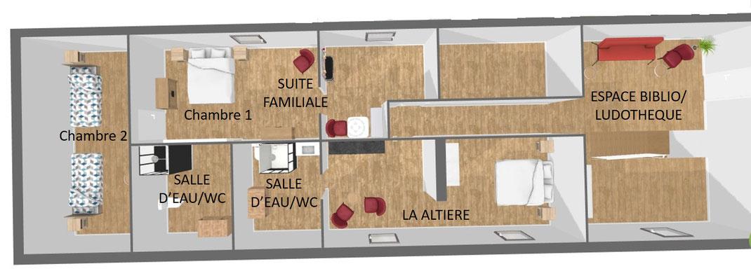 1er étage gauche chambres