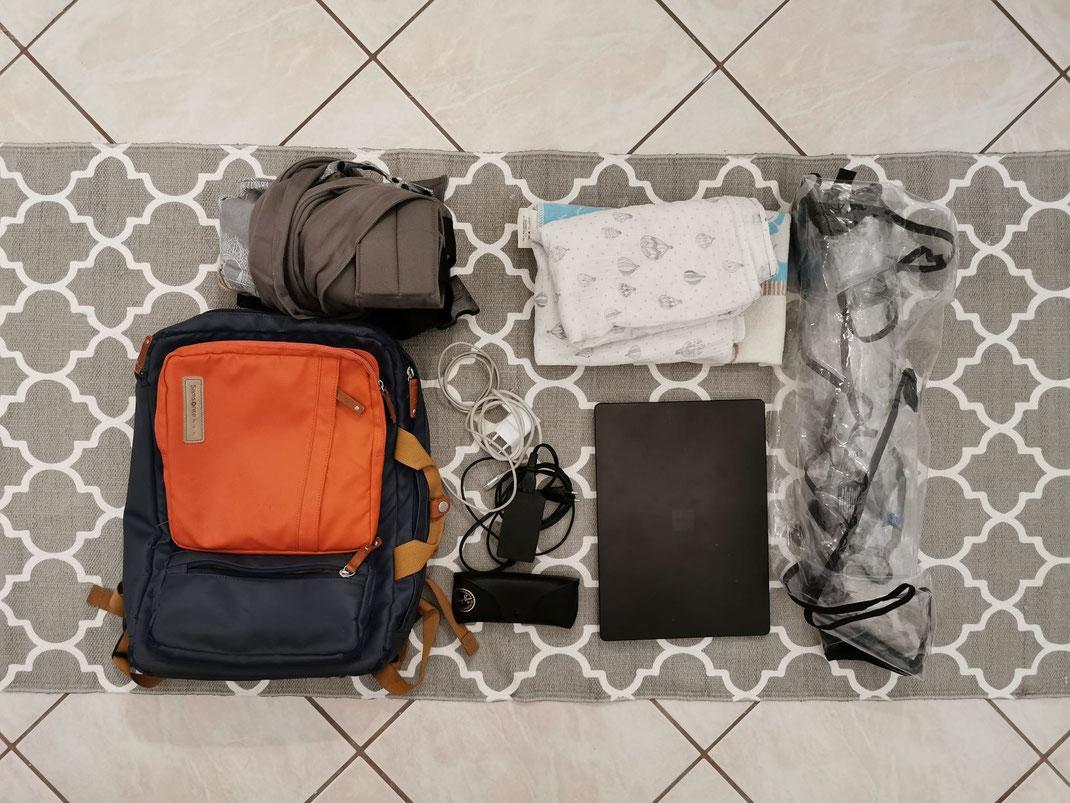 Handgepäck Reise mit Kind und Baby Laptoptasche