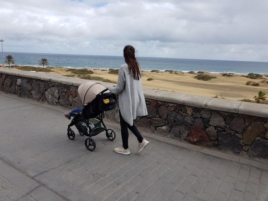 Gran Canaria meer kinderwagen