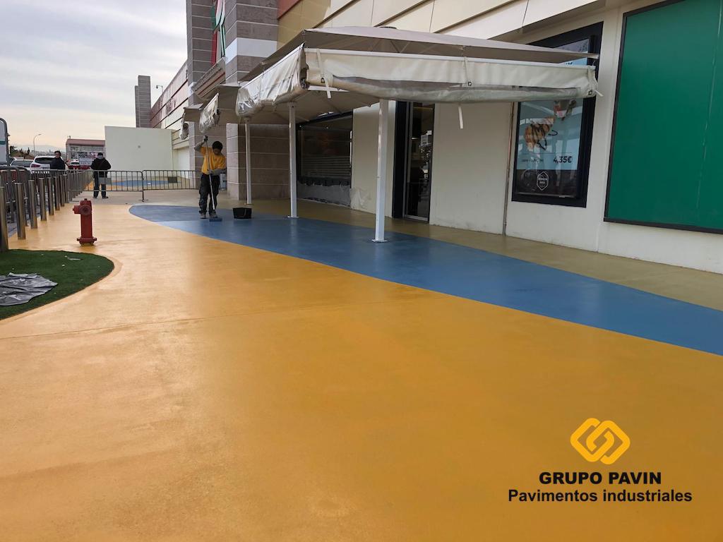 pavimentos, industriales, grupo, pavin, parking, centro, comercial, alcampo, preparación, soporte