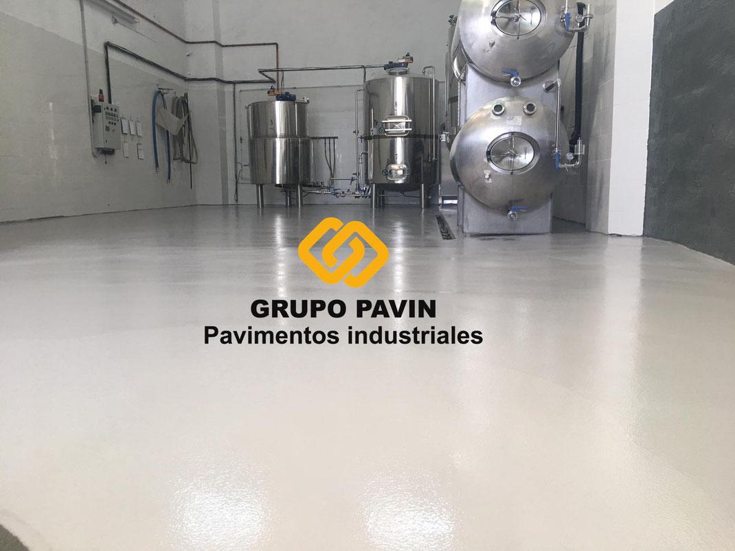 pavimentos, industriales, barcelona, grupo, pavin, fábrica, cerveza, artesanal