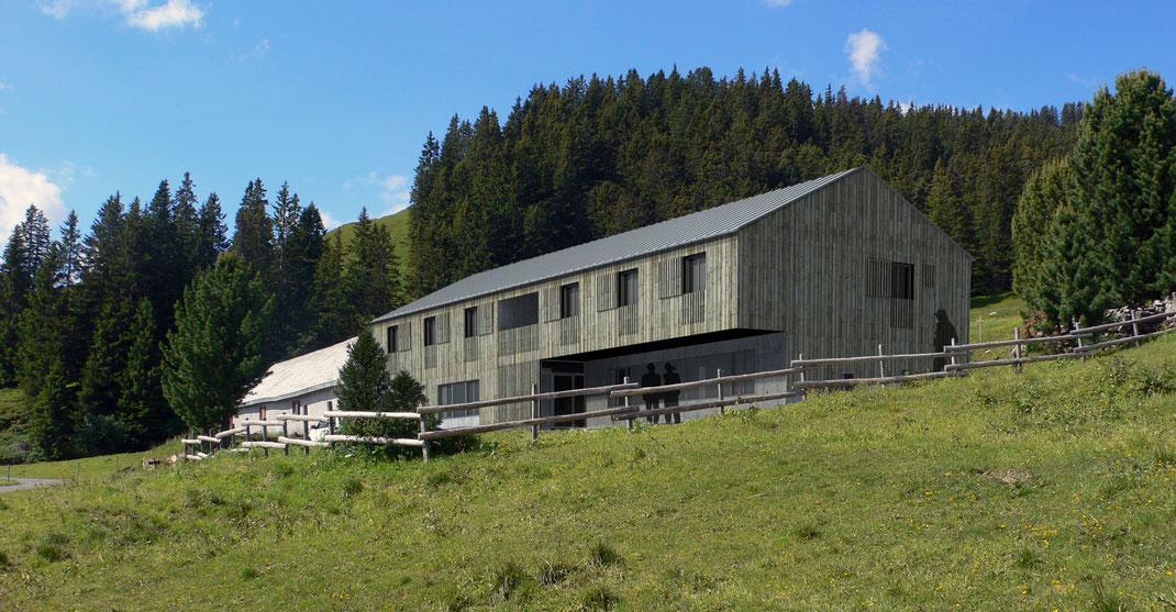 Projektwettbewerb kindergarten walenstadt b k architekten ag - Berghaus architekten ...