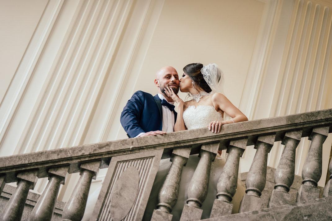 Hochzeitsfotograf Duisburg im Schloss Garath in Düsseldorf