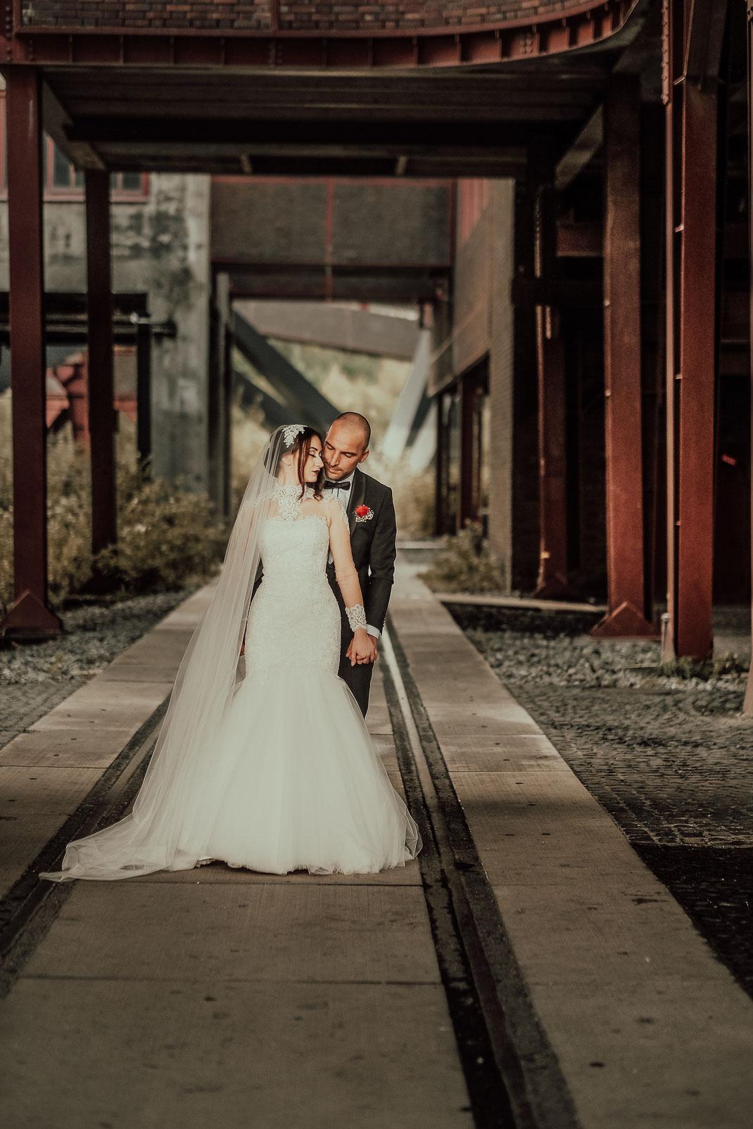 Hochzeitsfotograf Duisburg, Hochzeitsfotografie auf Zeche Zollverein in Essen