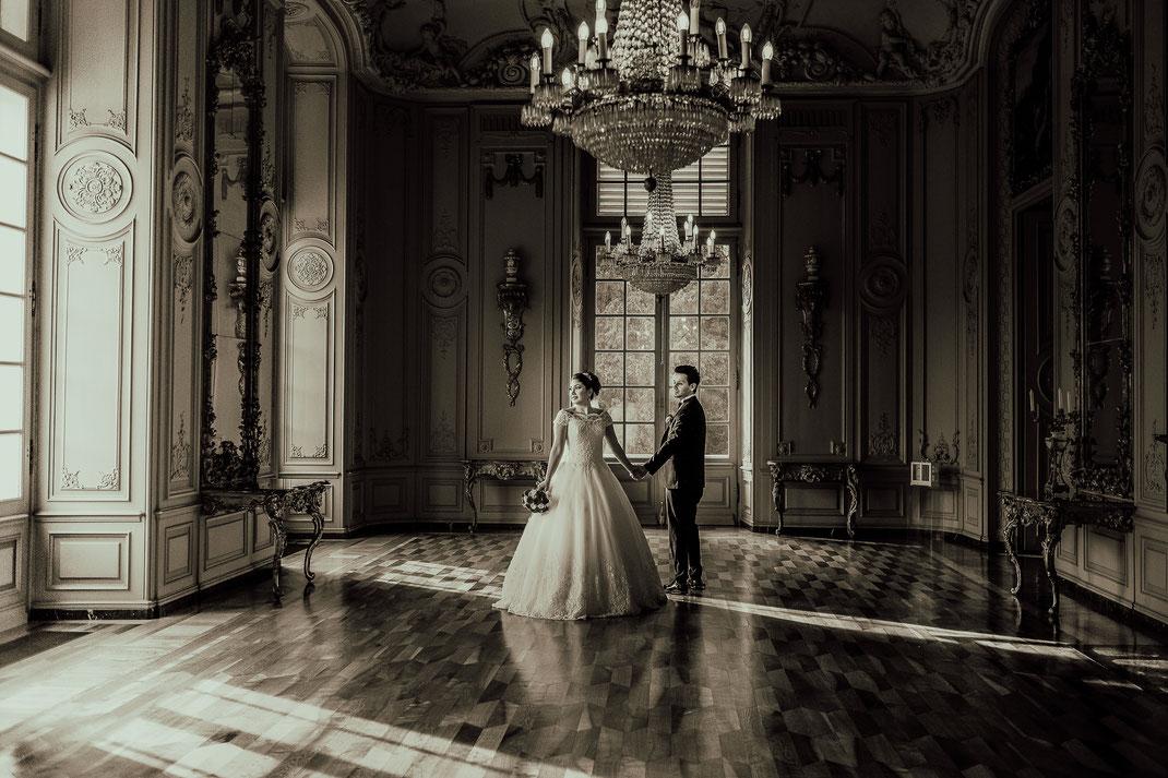 Hochzeitsfotograf im Schloss Benrath in Düsseldorf und Jade Mülheim