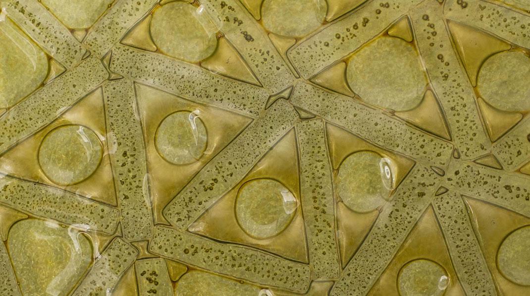 Verschmelzen von Glas im Brennofen - Fusing