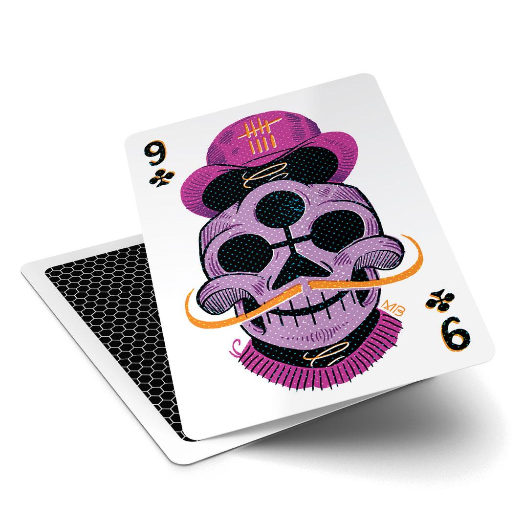 illustrierte Pokerkarte (52Aces)