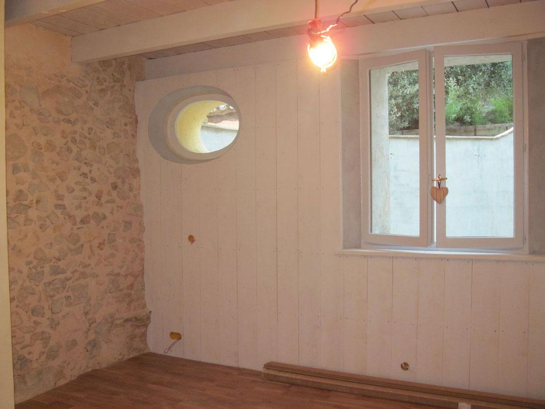 Mur Exterieur En Planche De Coffrage lambris - poseur menuisier 83