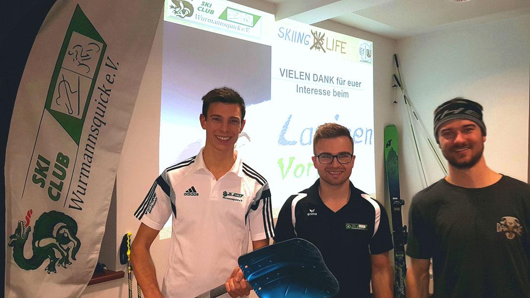 von links Tobias Fürstberger, Maxi Ginghuber, Tobias Wohlmannstetter