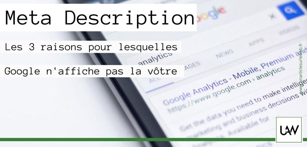 Google n'affiche pas la meta description