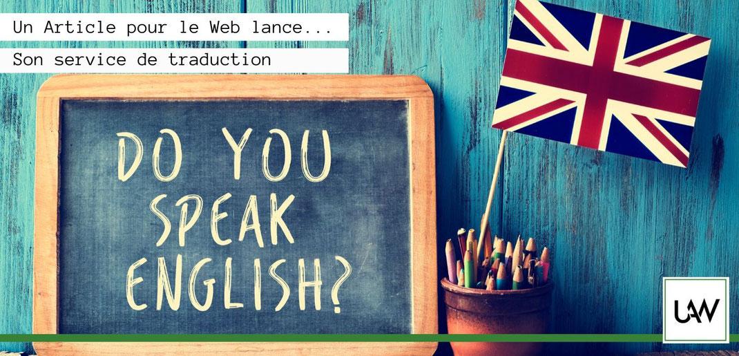 Service de traduction français anglais