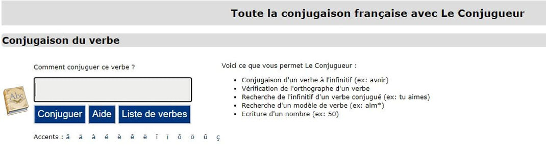 Screenshot du correcteur d'orthographe en ligne LeConjugueur du Figaro