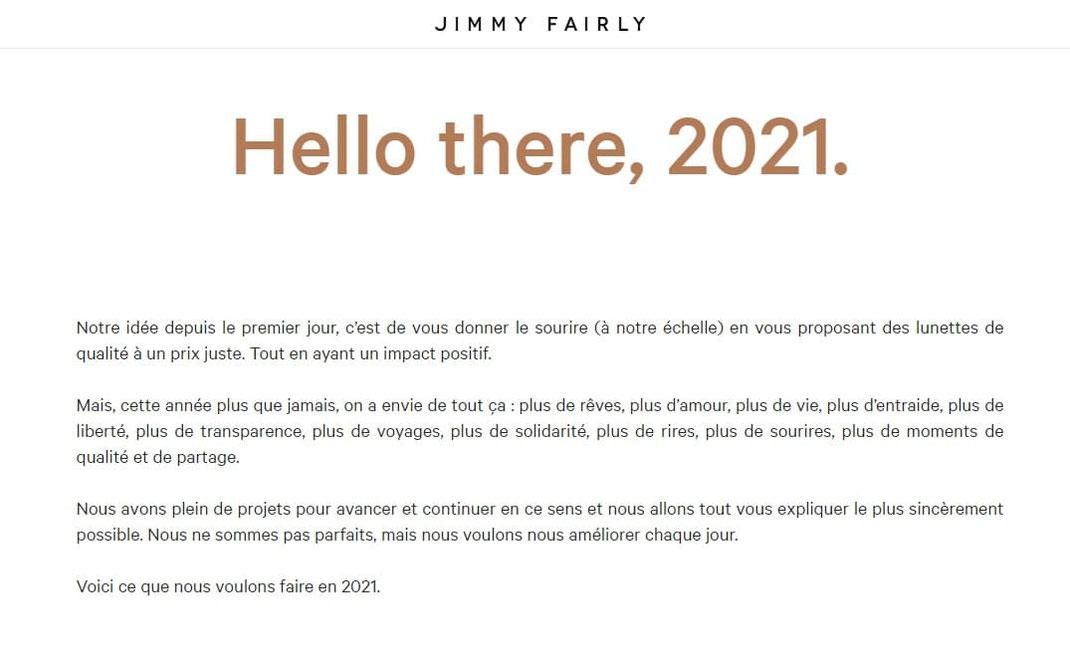 Exemple de storytelling de Jimmy Fairly
