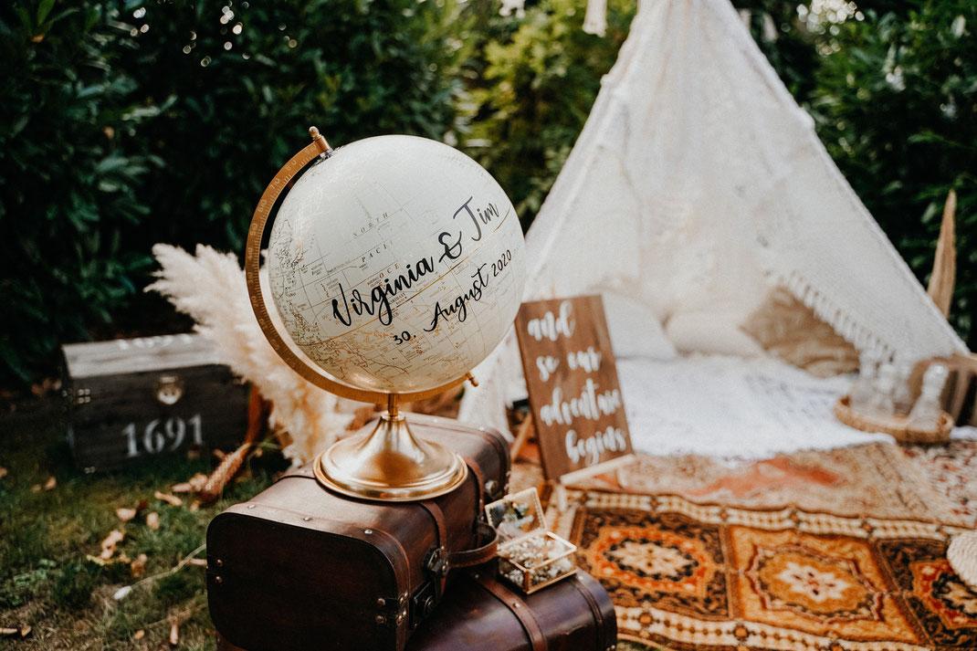Hochzeit, Gästebuch, Gästebuchglobus, Hochzeitstipps, Hochzeitsfotograf, Hochzeitsdeko, Braut, Brautkleid, Brautgeschenk