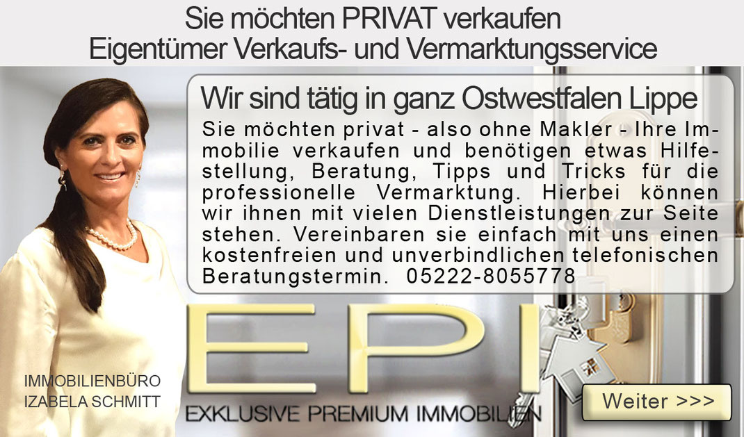 STEINHEIM IMMOBILIE PRIVAT VERKAUFEN OSTWESTFALEN LIPPE OWL VERKAUFSSERVICE FÜR PRIVATVERKÄUFER PRIVATER IMMOBILIENVERKAUF OHNE MAKLER PROVISIONSFREI OHNE PROVISION