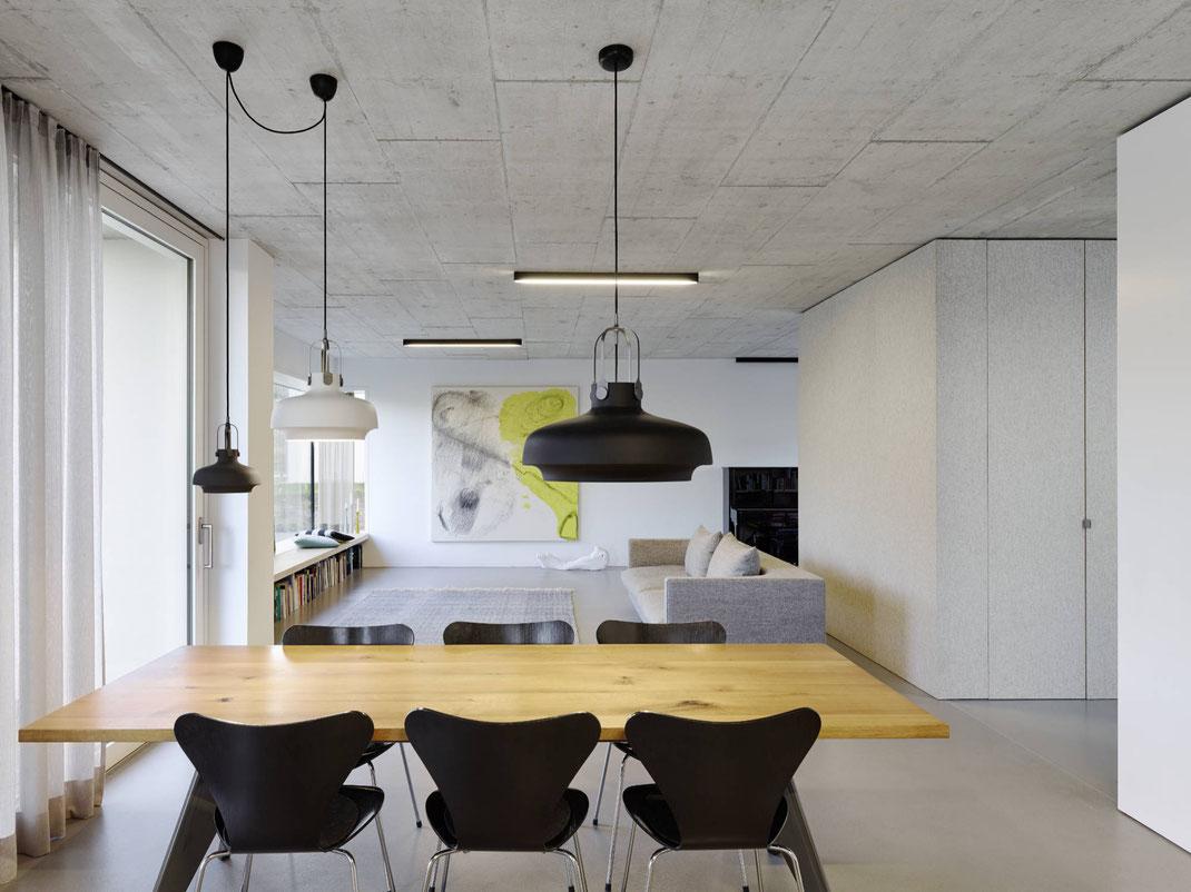 Lenz Architekten apartment91 inneneinrichtung vorhaenge gardinen wohnen teppich polstermoebel