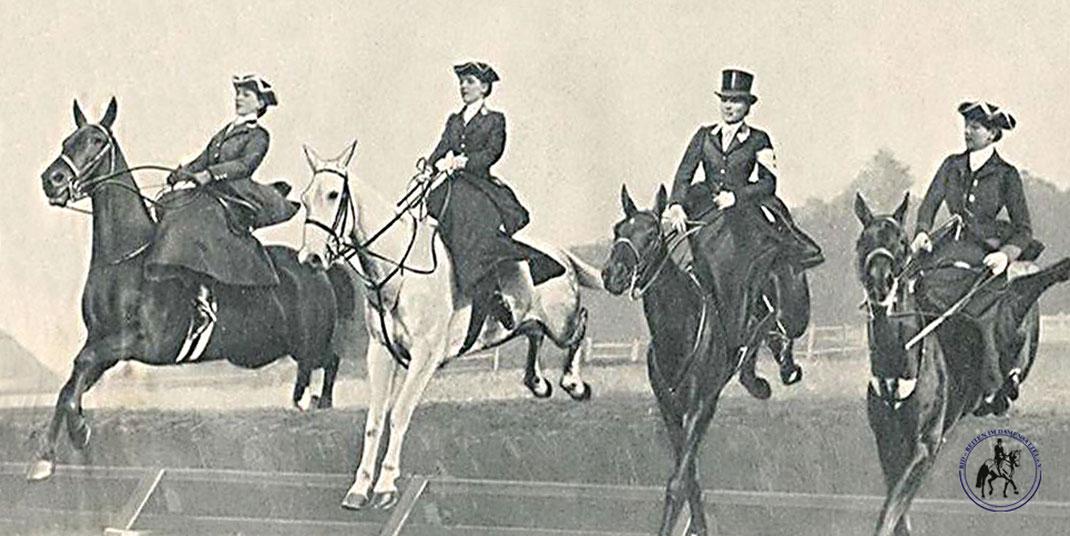 RID Reiten im Damensattel Fotogalerie, historische Abbildungen