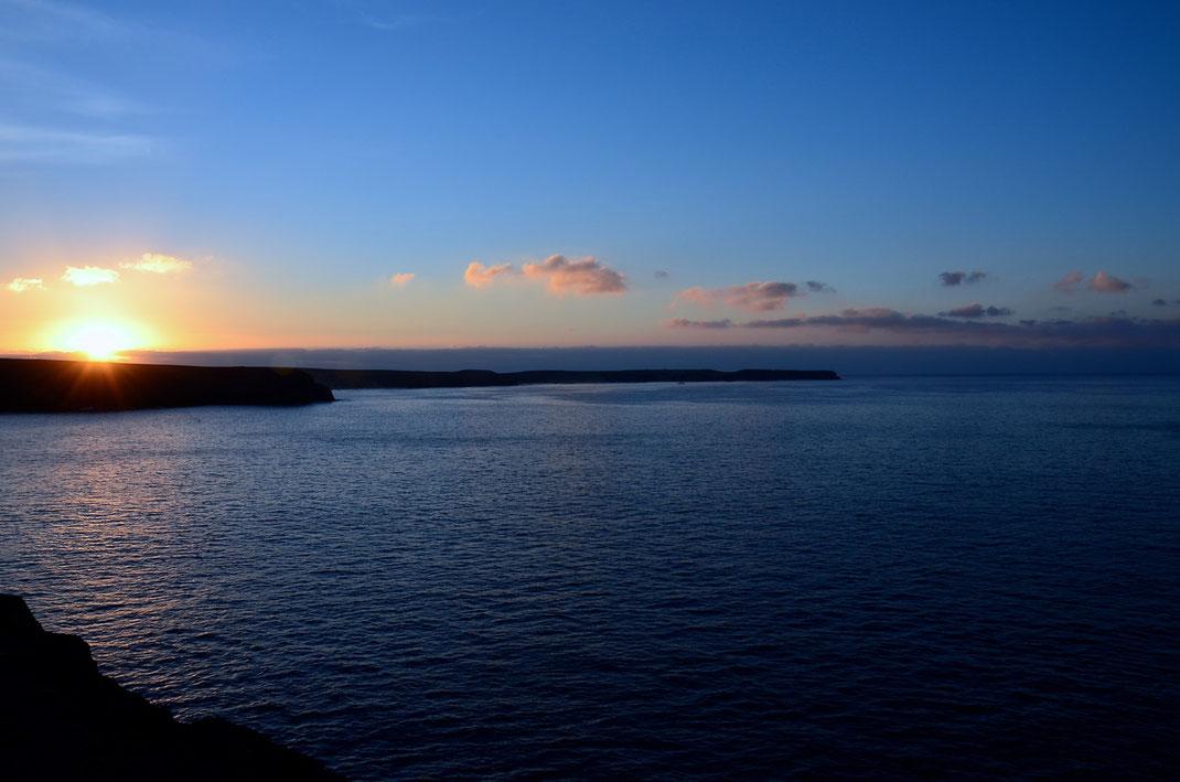 8.10. - Sonnenaufgang über den Buchten der Playas de Papagayo