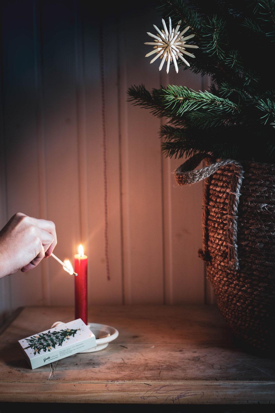 Weihnachtsbilder, Kerzenschein