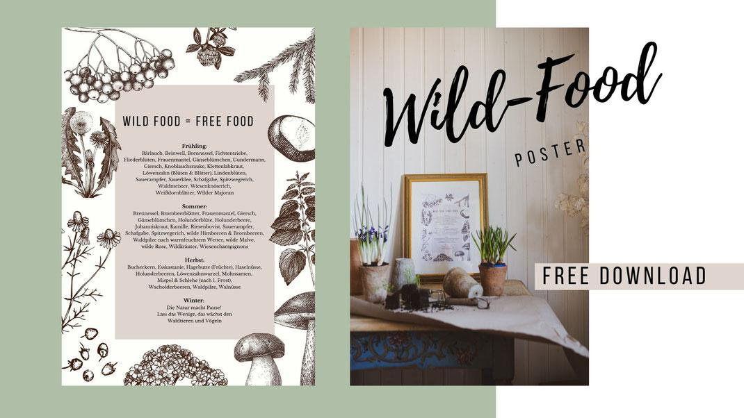 Wildfood Poster - Wildkräuter zum Ausdrucken!